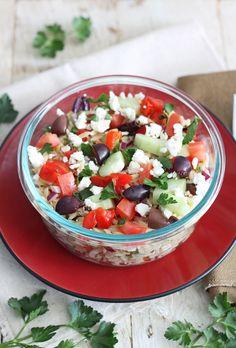 Greek Orzo Salad | www.reciperunner.com
