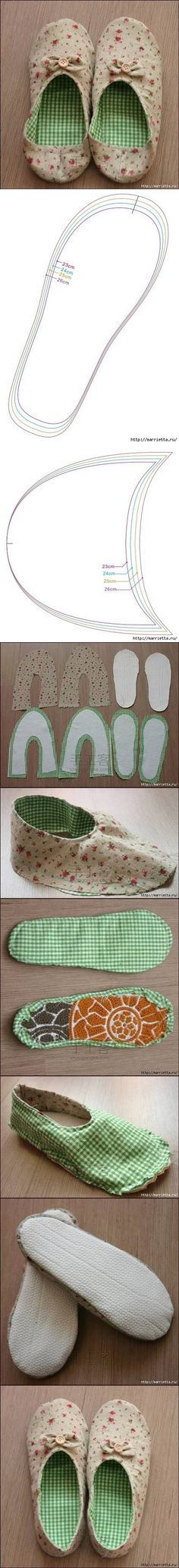 How to make Womens House Slippers DIY tutorial instructions / How To Instructions