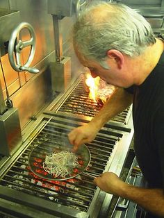 Victor Arguinzoniz, chef and owner of Asador Etxebarri in Northern Spain. His signature cooking is wood fired grilling - you could say he is obsessed with wood smoke