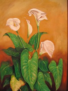 Artwork >> Mazouz Patrice >> Ara oil / linen  #artwork, #calas, #flowers  #oil, #painting, #masterpiece, #nature, #vase
