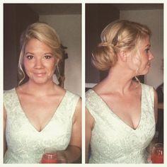 Hair up and makeup by @thebridalbase #makeup #hair #hairstyling #hairup #plaits #bridal #bridalmakeup #bridalhair #weddings #brides