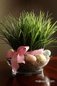 Easter grass decor