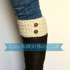 Easy Crocheted Boot Cuff Pattern