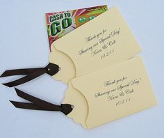 Adorable! Lottery Ticket Favor by abbeyandizziedesigns on Etsy