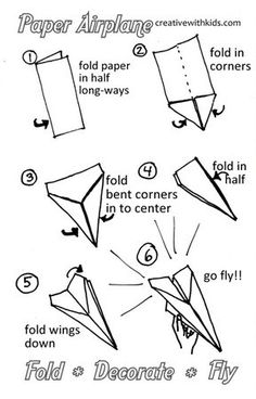 Best Paper Airplane Instructions - printable C always asks me to make a paper airplane, hopefully i'll be able to do it now - kids - origami
