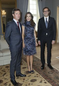Queens & Princesses - Prince Frederik and Princess Mary hosted a reception for members of the Canadian Embassy in Denmark in honor of their upcoming official visit to the country. The reception was held at the Royal Palace in Copenhagen.