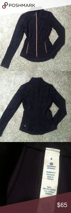 🌸NWOT LULULEMON ZIP UP JACKET🌸 >sleek and stylish purple and black Lululemon zip up jacket  >>size 4 >new without tags! Perfect condition; no flaws or signs of wear  Same/next day shipping! Pet/smoke free home! Offers welcome! Bundle & save!!  Thanks for looking, xo💋 lululemon athletica Jackets & Coats