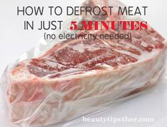 How to Defrost Meat in Just 5 Minutes No Special Equipment Necessary! | Beauty and MakeUp Tips