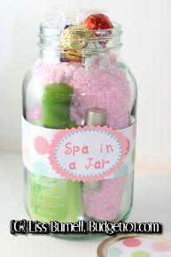 spa in a jar