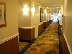 The bright lights are very harsh. The wainscot is old fashioned. Hotel Corridor, Hotel Decor, Wainscoting, Stairs, Restaurant, Interior, Bright Lights, Matilda, Google Search