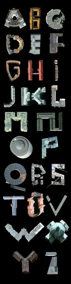 Satelite architecture typography