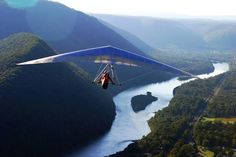 Hyner View State Park features a scenic vista overlooking the West Branch of the Susquehanna River and a favorite destination for hang gliding!