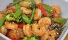 Crock Pot Shrimp Stir Fry - love the veggies!  www.getcrocked.com