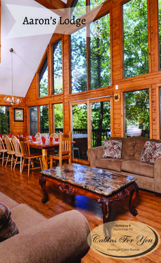 Located less than one mile from downtown Gatlinburg, Aaron's Lodge is a large group cabin that is perfect for a family reunion, church trip or youth retreat.