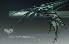 Romulan Scimitar Redesign, Adam Burn on ArtStation at… Spaceship Art, Spaceship Design, Foto Batman, United Federation Of Planets, Star Trek Online, Cyberpunk, Alien Ship, Evil Empire, Alien Concept Art