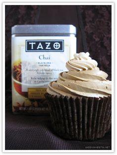 Chai Tea cupcakes with brown sugar buttercream.