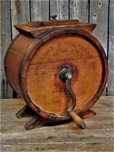 Antique Primitive Wood Dairy Farm Butter Churn 1800's New England AAFA #Country #BronsonTownsendCoNewHavenConn