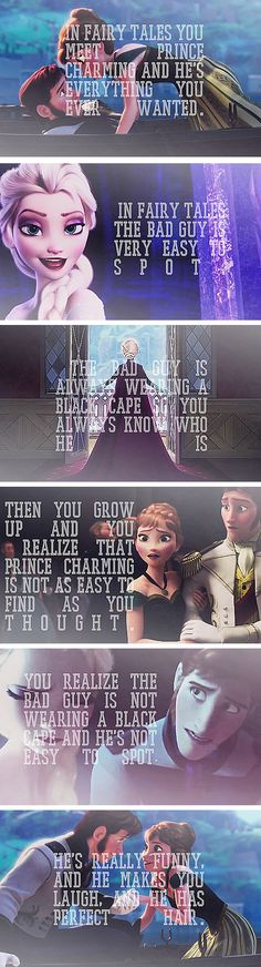 Frozen is the one movie that does not portray a perfect fairytale. It shows how life really is, and how happy the ending can still be even through all the hard Frozen Disney Love, Disney Magic, Disney Frozen, Disney Stuff, Disney And Dreamworks, Disney Pixar, Walt Disney, Funny Disney, Happy End
