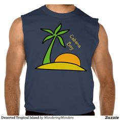 Deserted Tropical Island Sleeveless T-shirt