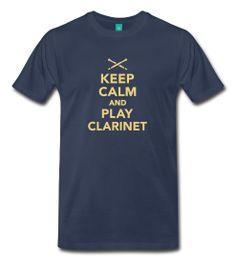 Keep calm And Play clarinet M Clarinet, Keep Calm, Fashion Accessories, Play, Mens Tops, T Shirt, Women, Supreme T Shirt, Tee Shirt
