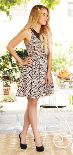 Style is black and white with this little charmer. #LaurenConrad #newarrivals #Kohls #LCKohlsFav