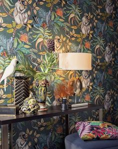 Cole and Son SAVUTI wallpaper cole and sons wallpaper monkey.- Cole and Son SAVUTI wallpaper cole and sons wallpaper monkey wallpaper jungle wallpaper lee jofa wallpaper savuti armore collection - Monkey Wallpaper, Tier Wallpaper, Animal Print Wallpaper, Feature Wallpaper, Bathroom Wallpaper, Pattern Wallpaper, Wallpaper Jungle, Wallpaper Ideas, Wallpaper Toilet
