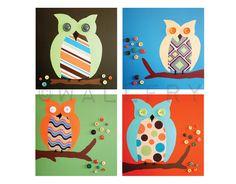 Retro Owl Artwork