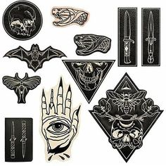 @shrimpsauce August 15' line brings 8 brand new #patches and 2 new #backpatches #embroidered on high quality #leather.  A variety of southern #Gothic at it's finest.  Each #shrimpsauce #patch will come packaged with free stickers/post card & to make it even better they gives free worldwide ✈️ shipping. Use the code: freeshipping at checkout.  Link in their bio. .  #patchgame