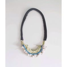 leather layered neckpiece  |  BY HAND