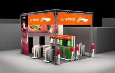 Fair stand design 2014 Li-Ning stand in Paris running expo