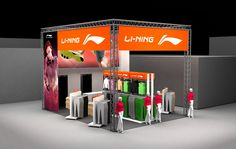 Fair stand design 2014 Li-Ning stand in Paris running expo