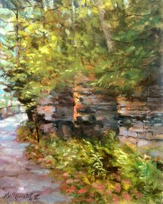 "Ross Park Zoo Path  11""x14"" oil canvas HALL GROAT II #Impressionism"