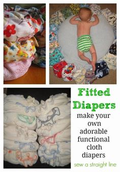 The making of a fitted diaper