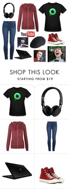 """""""JACKSEPTICEYE!!!"""" by gryffindorgirl-i ❤ liked on Polyvore featuring Beats by Dr. Dre, Paige Denim, Razer, Converse, Overland Sheepskin Co., women's clothing, women's fashion, women, female and woman"""