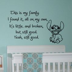 This Is My Family I Found It On My Own Lilo and by FabWallDecals