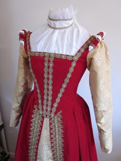 Custom Elizabethan Gown in your size and fabrics. $1,100.00, via Etsy.
