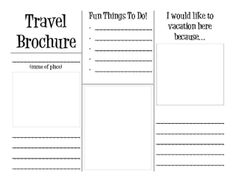 Travel Brochure  Travel Brochure Brochures And Organizing