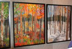 Landscape Quilts by Ann Loveless She is amazing, 2013 Artprize winner. So well deserved.