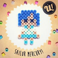Sailor Mercury hama beads by unipireu