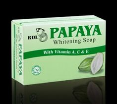 RDL Green Papaya Skin Whitening Bath Soap 135g with Vitamins A C  E ** Find out more about the great product at the image link.