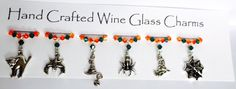 Halloween Wine Glass Charms - Spooky Nights - Halloween Party - Halloween Gifts by Makewithlovecrafts on Etsy