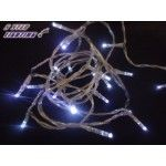 20 LED Fairy Christmas Halloween Wedding Lights 2m Cool White & Battery Operated