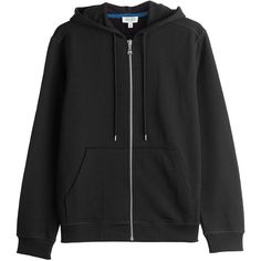 Kenzo Zipped Cotton Hoody (4.005.105 IDR) ❤ liked on Polyvore featuring tops, hoodies, black, zip hoodies, embroidered hoodies, zip hooded sweatshirt, cotton hoodie and zip front hooded sweatshirt
