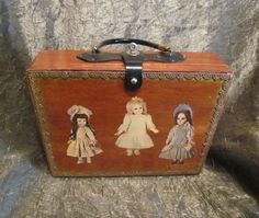 Wooden Purse 1930s Purse Doll Luggage