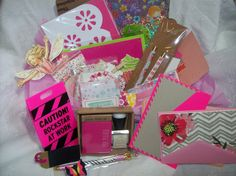 Shades Of Pink Surprise Goody Box -Planner and Pen Pal Kit (Stationery, Planner & Pen Pal Supplies) by ASprinkleOfLovely on Etsy