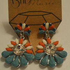 Fun! Orange white and turquoise AshBmarie Jewelry Earrings