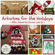 The Educators' Spin On It: Last Minute Ideas for Holiday fun with your school Aged Kids {Link Up}