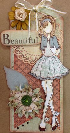 Beautiful Julie Nutting Doll. For My handmade greeting cards visit me at My Personal blog: http://stampingwithbibiana.blogspot.com/
