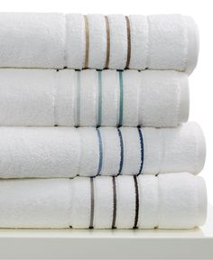 Hotel Collection Ultimate MicroCotton Borderline Bath Towel Collection, cotton, Created for Macy's - Bath Towels - Bed & Bath - Macy's Jax, Ikea, Hooded Bath Towels, New Toilet, Bath Towel Sets, Bathroom Towels, Small Bathroom, Walk In Shower, Amazing Bathrooms