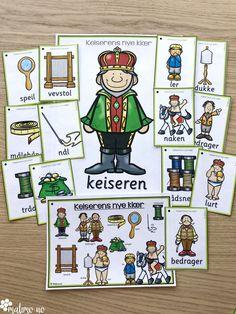 Støttemateriell for å arbeide med eventyr som tema, med fokus på språkopplæring i samme slengen! Eventyr er alltid gøy, og bakt inn i det kan man arbeide med bokstaver og lyder, stavelser, alfabetisering, silhuett-oppgaver som gir elevene trening i bokstavenes plassering, rimord. Eventyrene er: Hans og Grete, De tre bukkene bruse, Rødhette, Jack og bønnestengelen, Den lille røde høna, Gullhår og de tre bjørnene, Keiserens nye klær, Prinsessen på erten, Tre små griser, Askepott og flere! Classroom, Comics, Art, Poster, Comic Book, Kunst, Comic Books, Comic, Comic Strips